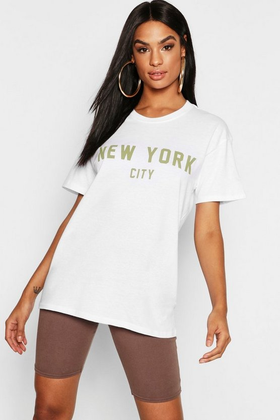 Tall New York Slogan T-Shirt
