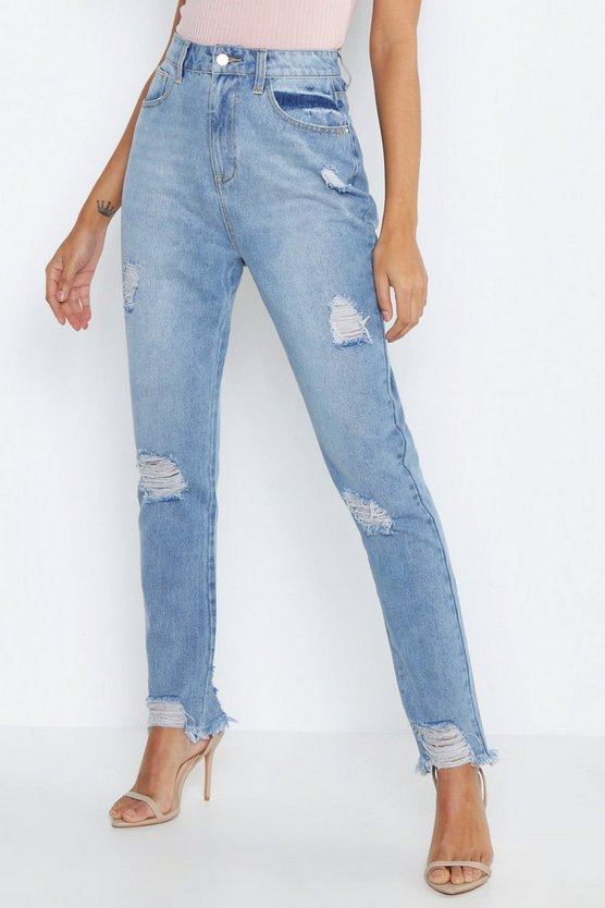 Tall Distressed Straight Leg Jeans