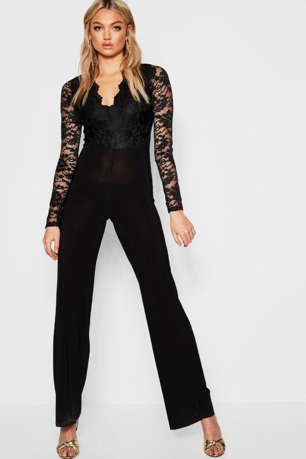 78c84eccfc2 Tall Plunge Lace Jumpsuit