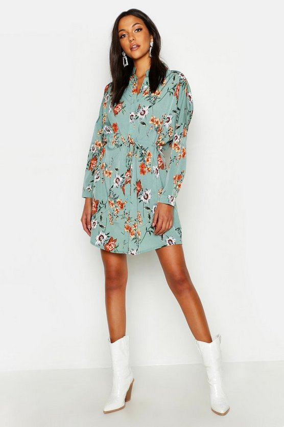 Tall Floral Shirt Dress