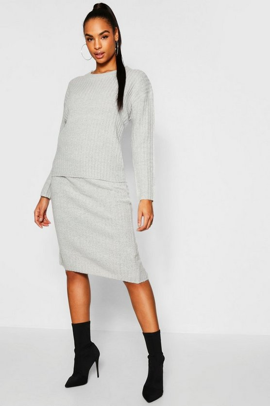 Tall Rib Knit Skirt Co-Ord