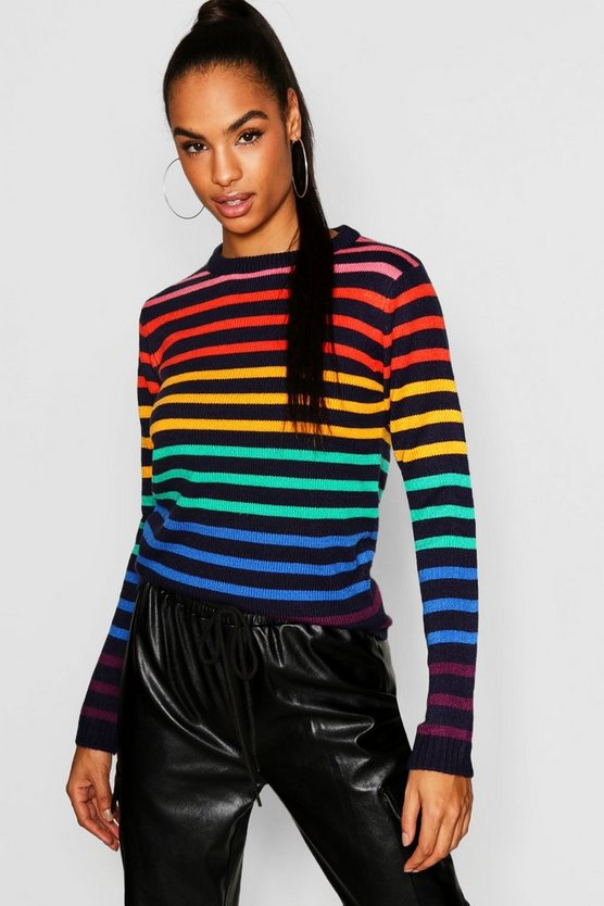 Tall Rainbow Stripe Jumper