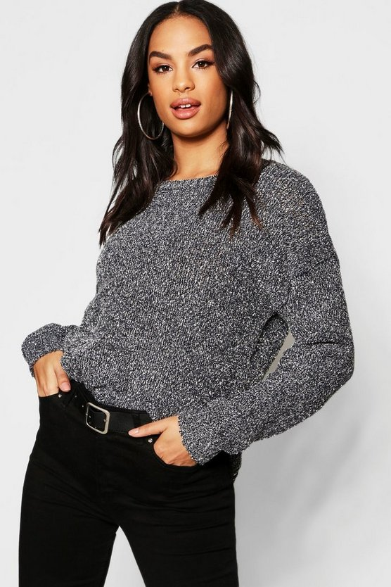 Tall Metallic Yarn Chenille Jumper