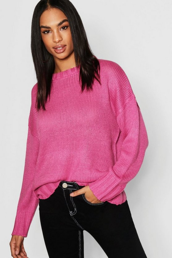 Tall Seam Detail Oversized Jumper