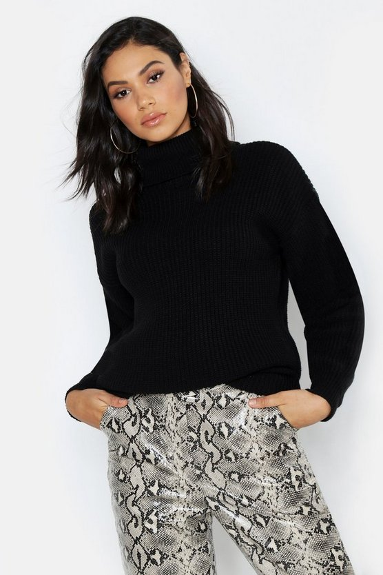 Tall Roll Neck Knitted Jumper