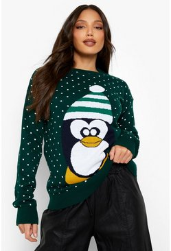 Bottle Tall Penguin Christmas Jumper