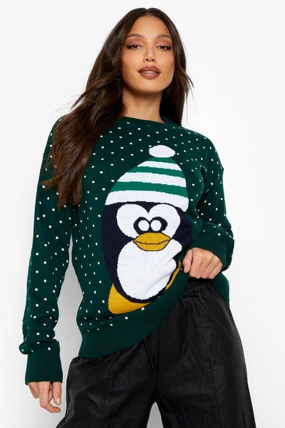 Tall Penguin Christmas Jumper
