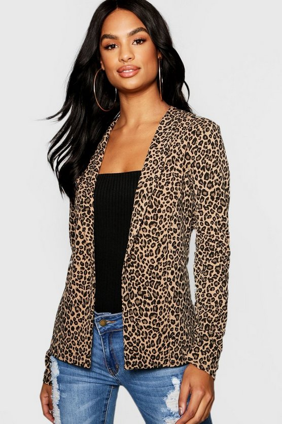Tall Blazer in Leopardenmuster