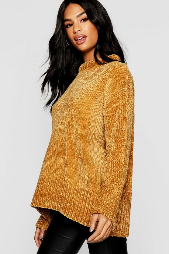 Tall Oversized Chenille Jumper