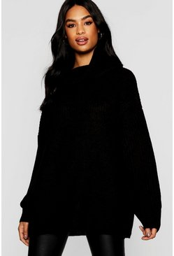 Womens Tall Oversized Chunky Roll Neck Jumper
