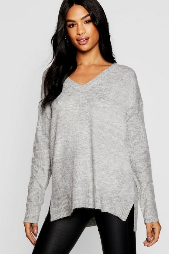 Tall Rib Sleeve Oversized Jumper