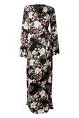 fb373642c3 ... Womens Black Tall Floral Belted Wrap Kimono Maxi Dress alternative  image ...