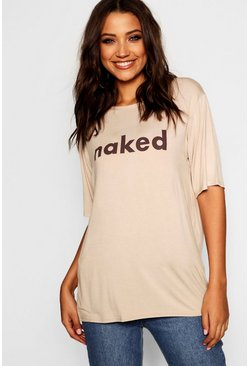 Womens Stone Tall 'Naked' Tee