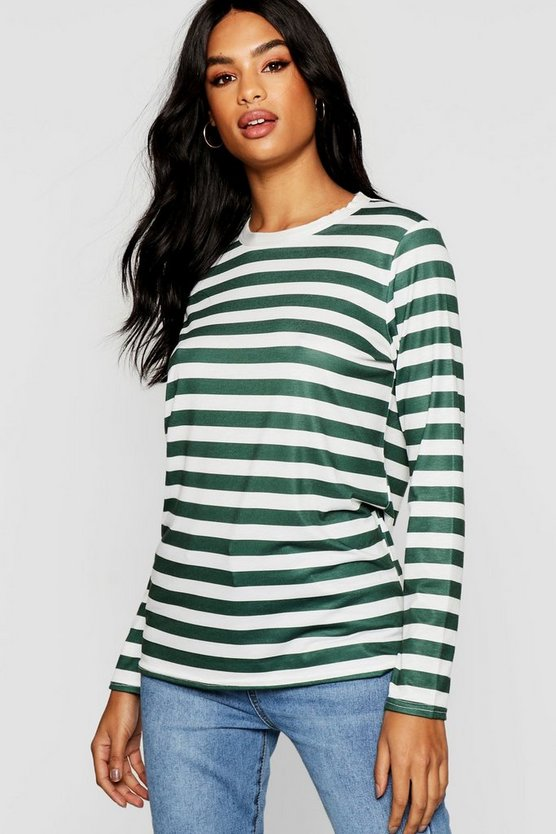 Tall Long Sleeve Stripe Tee