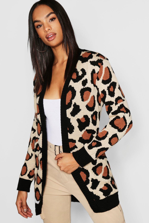 Tall Leopard Print Cardigan