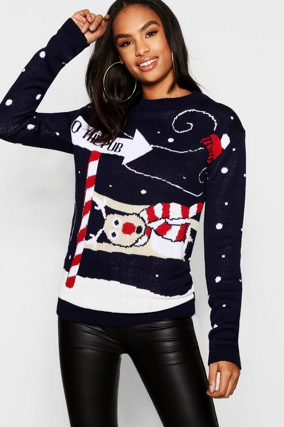 Tall Reindeer Christmas Sweater
