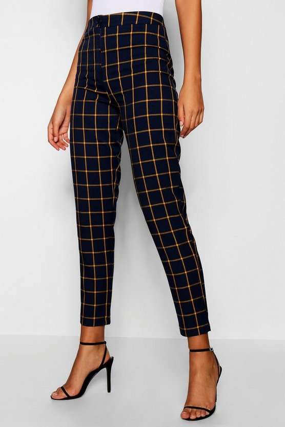 Tall Checked Tapered Trouser