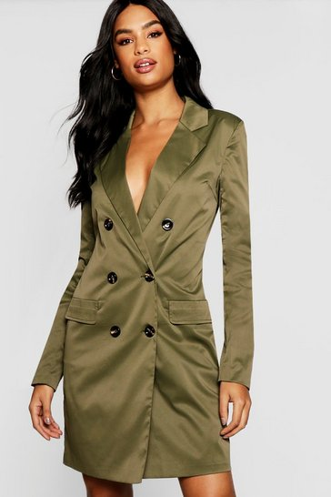 Womens Khaki Tall Utility Blazer Dress