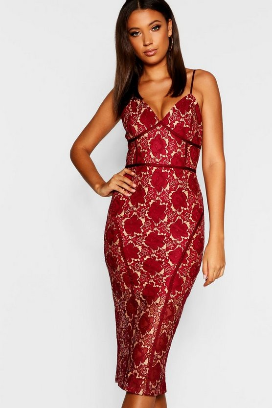 Tall Lace Midi Dress