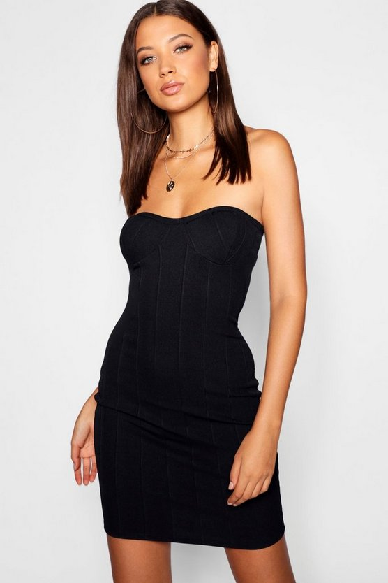 Womens Tall Cup Detail Bodycon Dress