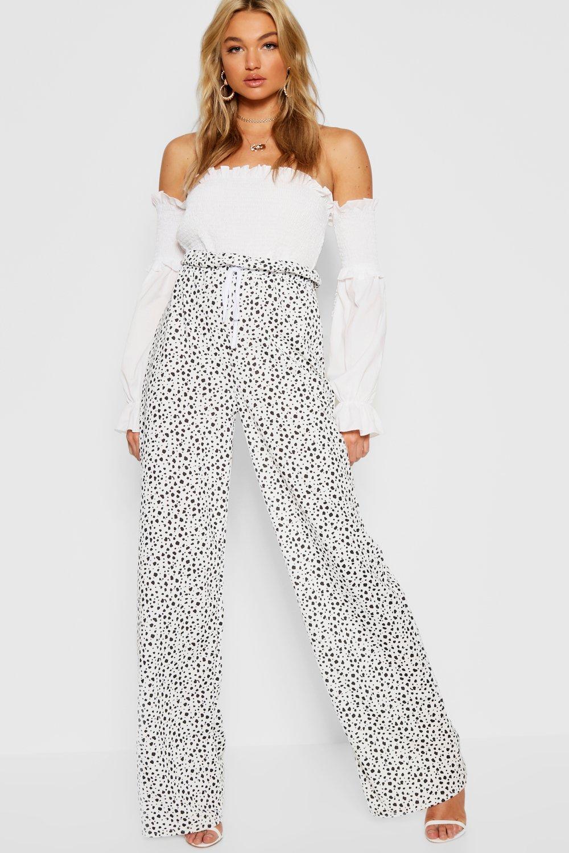 Wide Spot white Tall Leg Dalmatian Trouser OUWPBagq8w
