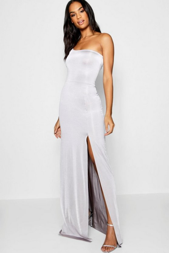 Tall One Shoulder Slinky Maxi