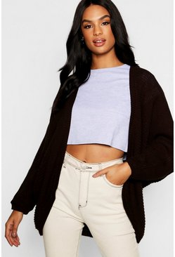 Womens Chocolate Tall Batwing Cardigan