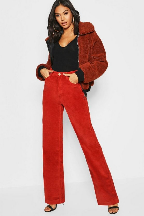Rust Tall Cord Wide Leg Jean