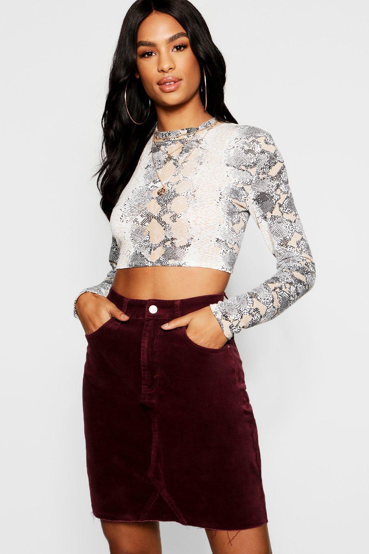 Tall Cord Mini Skirt