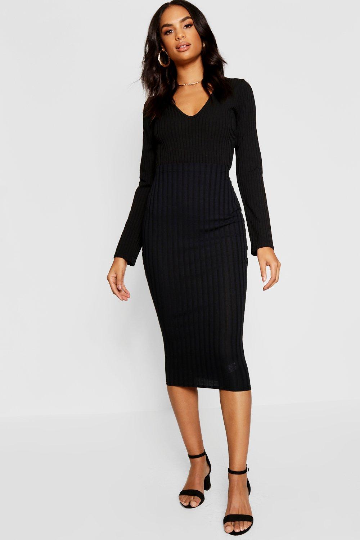 Tall Wide Rib Midi Skirt