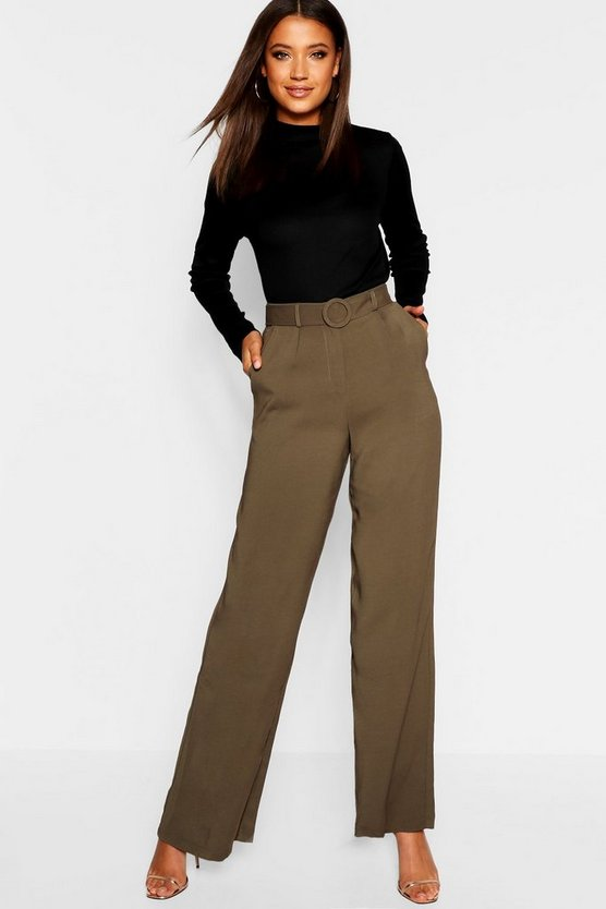 Tall Belted Wide Leg Trouser