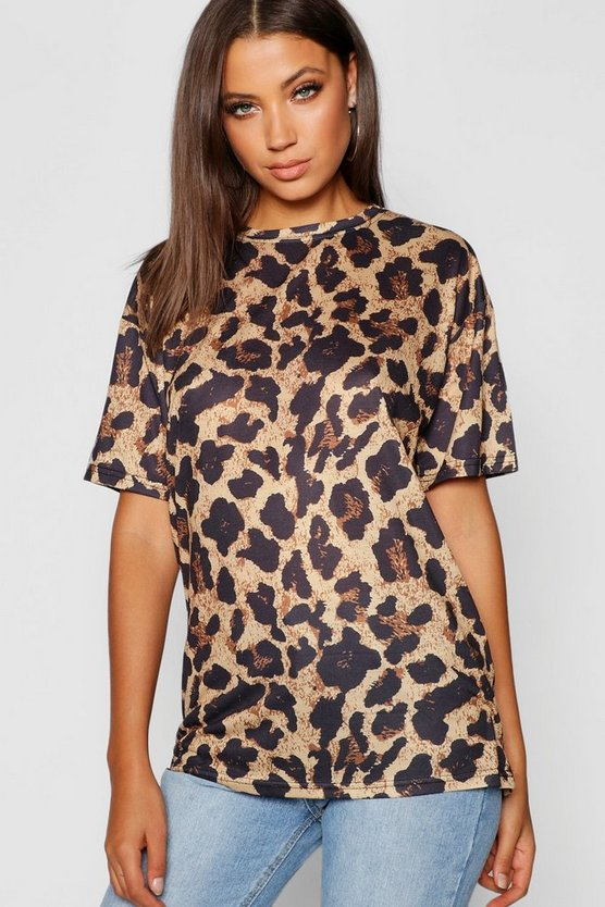 Camiseta con estampado de leopardo Tall