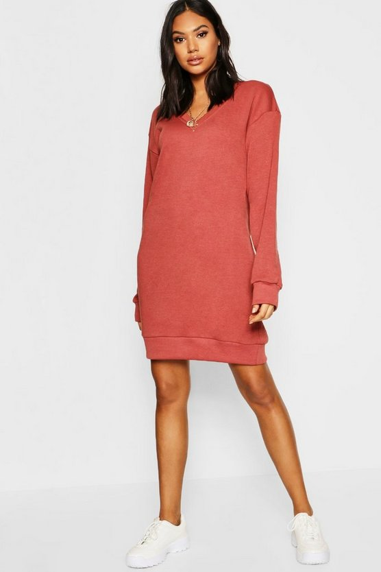 Tall V Neck Sweat Dress