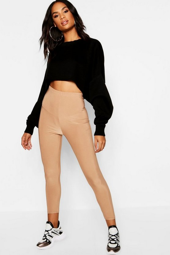 Womens Stone Tall Slinky Cropped Legging