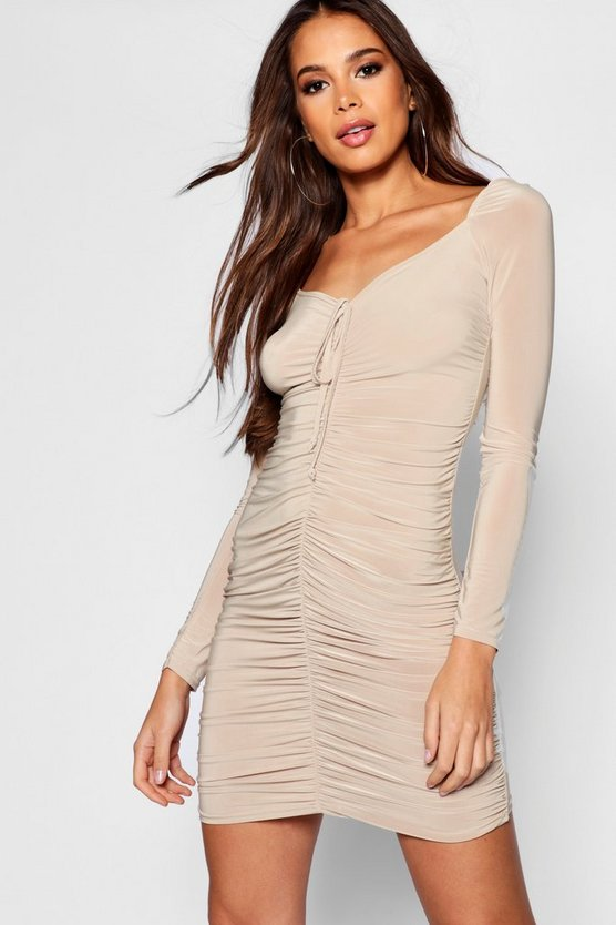 Tall Ruched Bodycon Dress