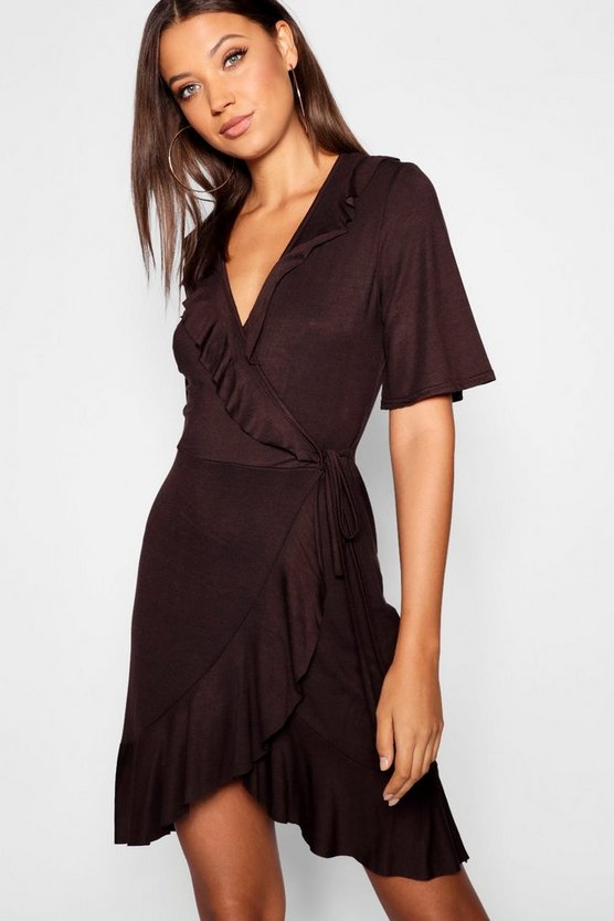 Tall Ruffle Wrap Dress