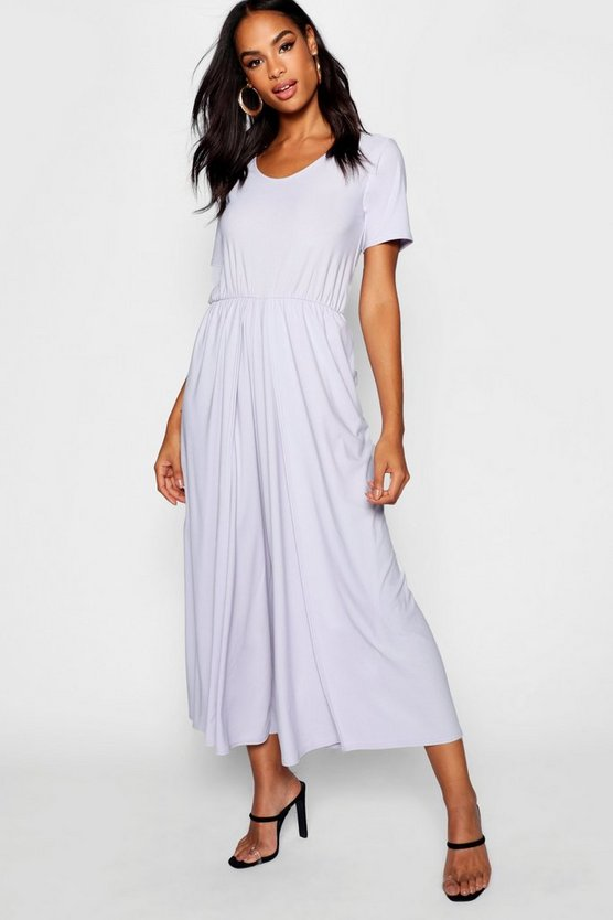 Tall ¾ Sleeve Split Leg Culotte Jumpsuit