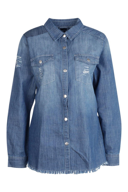 Tall Denim Denim Shirt Shirt blue Tall YfxPTv