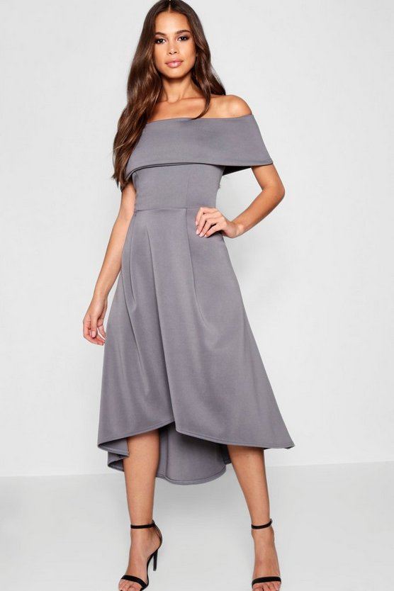 Tall Double Layer Midi Dress