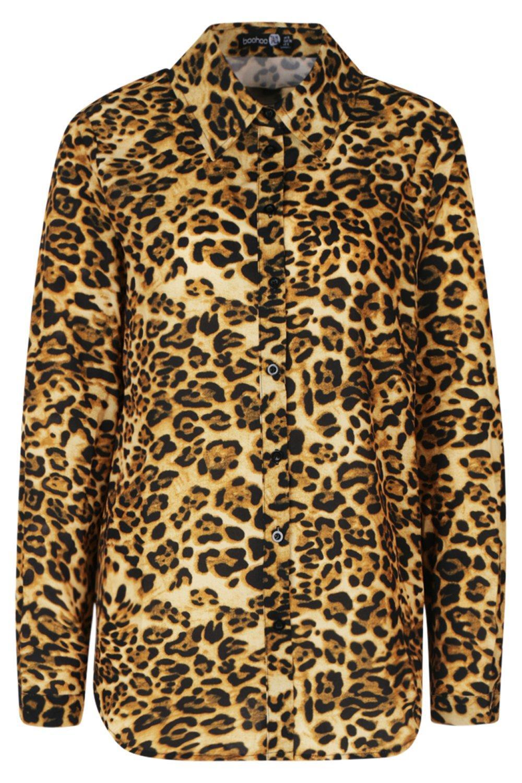 Leopard gold Tall Tall Shirt Leopard Print 6nUETp6qwH