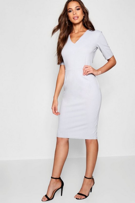 Tall V Neck Midi Dress