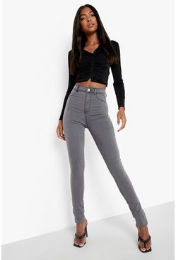 Womens Grey Tall Basic Jegging