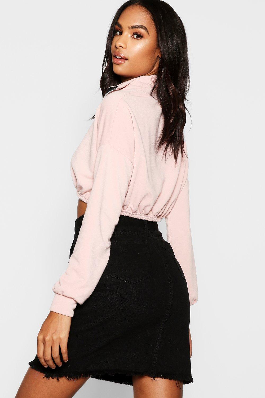 Tall Skirt Denim Tie black Waist aqwfaUgr