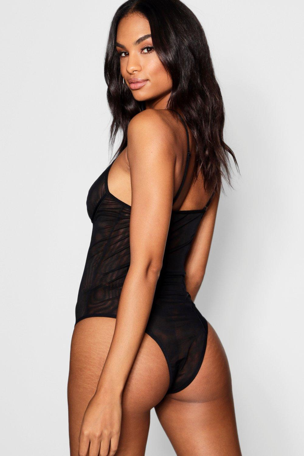 black Bodysuit Mesh Tall Mesh Bodysuit Tall w8SOZ