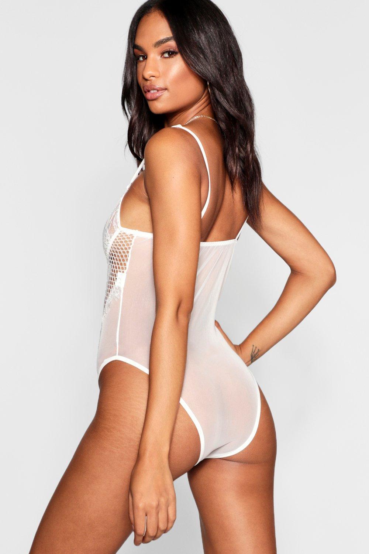 Bodysuit black Tall Trim Tall Lace Lace 6nv8qF
