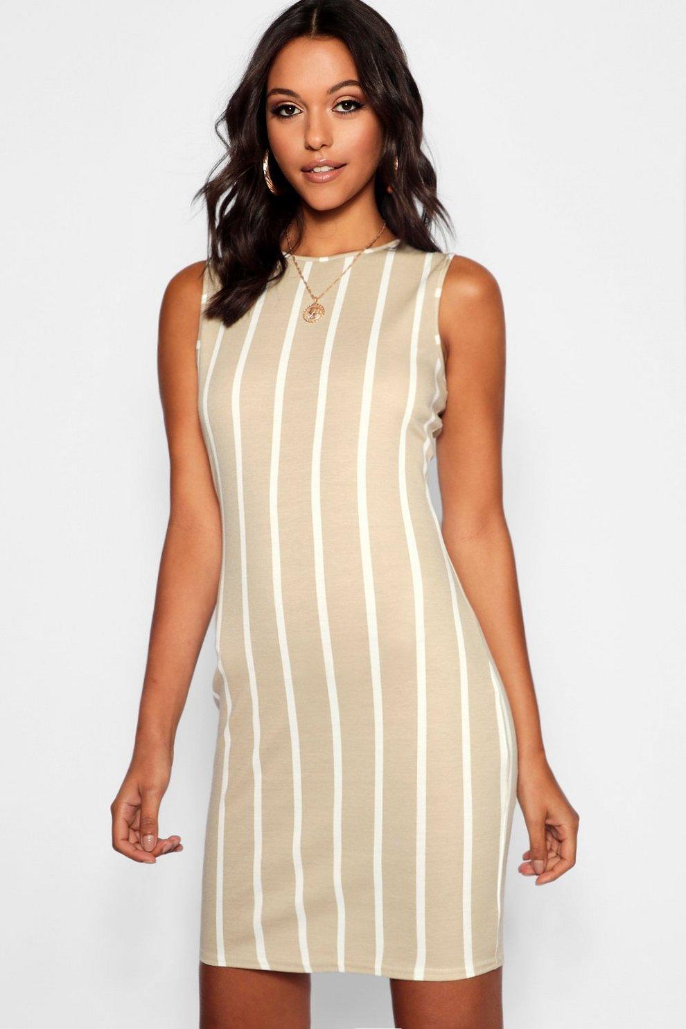 6b2994abc4038 Womens Stone Tall Stripe Mini Dress