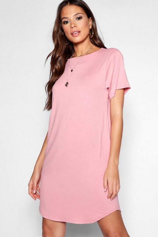 Tall Curved Hem T-Shirt Dress