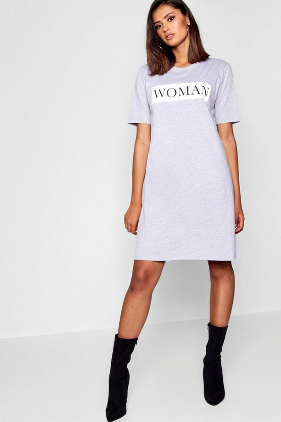 Tall Woman Oversized T-Shirt Dress