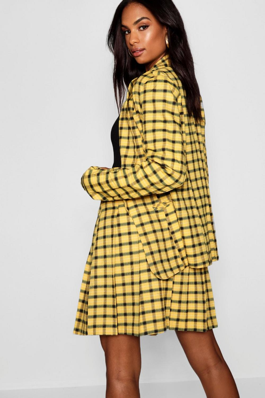 Tall yellow Checked Tall Blazer Checked Blazer EOp8Xqxw