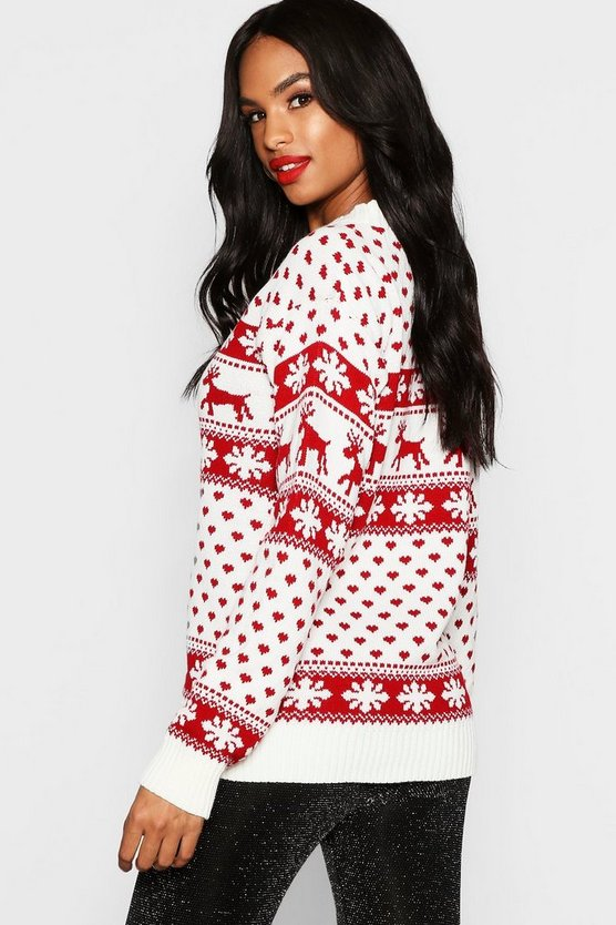Tall Reindeers Christmas Jumper